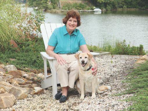 Mary Kay Rotert and her faithful companion